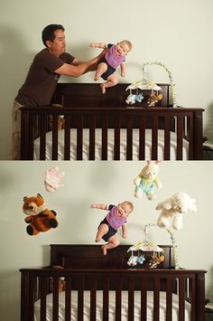 Make your baby fly photoshoot/photoshop. Imagine what would happen if you showed this to, i dunno, your great-grandmother who was no idea what photo manipulation is? I HAVE TO DO THIS WITH BABY BOY! Funny Baby Photography, Photoshop Photography, Children Photography, Newborn Photography, Photography Ideas, Levitation Photography, Family Photography, Dramatic Photography, Photography Tutorials