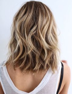 blonde long bob highlights