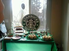 Starbucks Birthday Party, Birthday Party Design, Birthday Wishes For Myself, Birthday Party For Teens, Birthday Ideas, Starbucks Cookies, Starbucks Logo, Summer Party Themes, Party Ideas