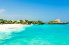 The Sands At Chale Island, Diani Beach, Kenya Bora Bora Honeymoon, Jamaica Vacation, Beautiful Sites, Beautiful Beaches, Diani Beach Kenya, Bora Bora Activities, Famous Places In France, Lanai Island, Exotic Beaches