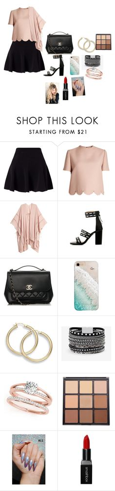 """""""Untitled #318"""" by dinngyv ❤ liked on Polyvore featuring Miss Selfridge, Valentino, Chanel, Gray Malin, White House Black Market, Morphe and Smashbox"""