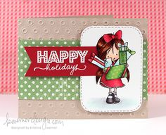 Holiday Card Series - Day 3 - Placing sentiment behind partially cut image - great idea!