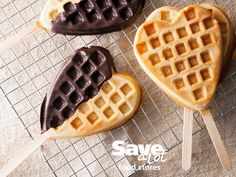 What could be better than a waffle dipped in chocolate? Adding Valentine sprinkles with the kids! http://save-a-lot.com/recipes/chocolate-dipped-waffles   #valentinesday #savealot