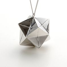 origami magic ball or kusudama sterling silver necklace $283