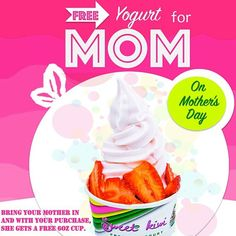 "@sweetkiwiyogurt's photo: ""Happy America Mother's Day! We are running our Mother's Day special again today! Free yogurt for your mom with your purchase. Treat her today to some free Sweetkiwi! #sweetkiwi #froyo #frozenyogurt #mothersday #love #moms #mothers #truelove #freeyogurt #happy #Sunday #greatdeal #fatfree #healthy #yummy #foodie #dessert #food #lekki #Lagos"""