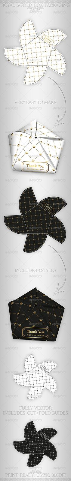 Royal Gift Package Box Template - GraphicRiver Item for Sale emballage-sac-enveloppe Origami Paper, Diy Paper, Paper Gifts, 3d Templates, Diy Box, Gift Packaging, Envelopes, Package Box, Diy And Crafts