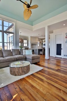 Sherwin-Williams 6478 Watery--Love these colors, the floors, and the open floor plan! LOVE