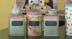 Cute DIY Canisters using drawer pulls #mycraftchannel #DIY #canisters