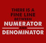 Fine line between numerator and denominator