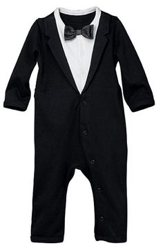 Tuxedo onesie. For Liam at Uncle Jack and Auntie Jo's wedding! :) j/k!
