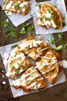 Smoked Gouda Mushroom Quesadilla | pinchofyum.com