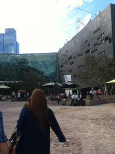 Approaching Top Arts - Federation Square