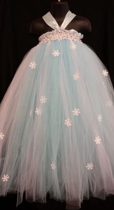 Frozen Inspired Tutu Dress Frozen Tutu by LittleMissTrendyTutu, $41.00