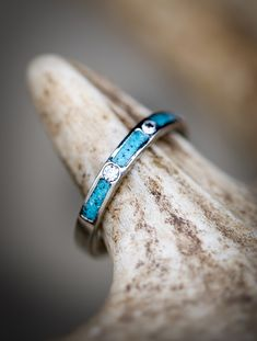 Turquoise Jewelry Ring White Gold Wedding Band Featuring Diamonds and Turquoise - Staghead Designs - Turquoise Wedding Band, Turquoise Rings, Gold Wedding, Turquoise Weddings, Wedding Veils, Wedding Hair, Bridal Hair, Dream Wedding, Bridal Headpieces