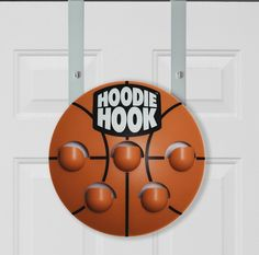 I was tired of my son's sports hoodies all over the place so we designed a hoodie hook and he loves it!  No more hoodies on the floor!