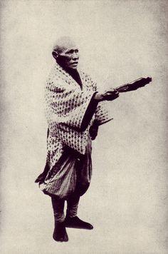 A master yobidashi (sumo announcer) Kanta / 勘太, ca. 1897