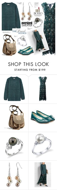"""""""The Pearl Source 17"""" by anyasdesigns ❤ liked on Polyvore featuring See by Chloé, Chloé, Repetto, Ilia and Tiffany & Co."""