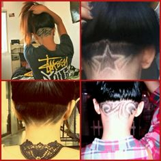 Undercut. Hair tattoo