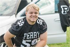 Perry High School Senior Session for Football Player by Destinee Stark Photography in Massillon, Ohio