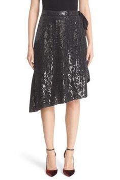 a48d84322 Diane von Furstenberg Brenndah Asymmetrical Sequin Wrap Skirt available at