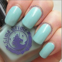 Once In A Blue Mousse is the perfect creamy pastel blue to match the pool side this summer! Photo by memyselfandmynails