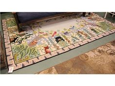72x112 Claire Murray Animals Rug