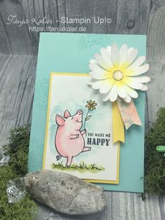 This Little Piggy, Daisy Delight, Stampin Up This Little Piggy, Little Pigs, Handmade Birthday Cards, Greeting Cards Handmade, Daisy Delight Stampin' Up, Stampin Up Catalog 2017, Stampin Up Karten, Stamping Up Cards, Rubber Stamping