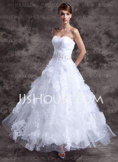 Wedding Dresses - $212.69 - A-Line/Princess Sweetheart Floor-Length Organza Satin Wedding Dresses With Lace Beadwork (002014984) http://jjshouse.com/A-line-Princess-Sweetheart-Floor-length-Organza-Satin-Wedding-Dresses-With-Lace-Beadwork-002014984-g14984