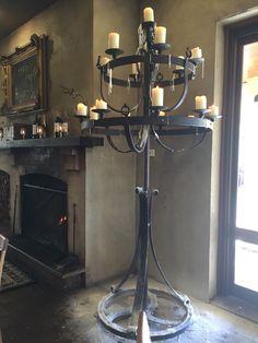 Wrought Iron gothic medieval candelabra