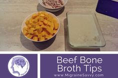 Beef Bone Broth Tips for Migraines Foods For Migraines, Migraine Diet, Migraine Relief, Migraine Pressure Points, Beef Bone Broth, Beef Bones, Good Food, Yummy Food, Dairy Free