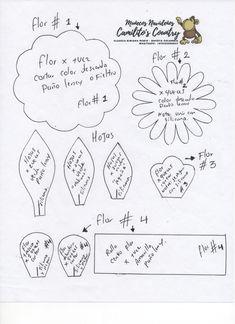 Quieres elaborar estas hermosas flores puedes ver el video en youtube  ingresa a nuestro canal ....muñecos navideños camilito's country alli estan los 4 videos . Diagram, Bullet Journal, Videos, Youtube, Art, Paper Flower Tutorial, Easy Crafts, Fabric Flowers, Activities For Kids