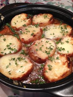 French onion mushroom soup in the ROCK CROK...order yours today www.pamperedchef.biz/marymauro