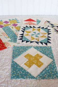 Moda Block Heads 3 - Block 49 X Marks the Spot 4'', 6'', 8'' & 12''