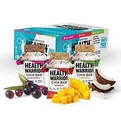 Health Warrior Chia Bars CoconutAcai BerryMango Variety Pack 132Ounce Pack of 15 ** Want to know more, click on the image.