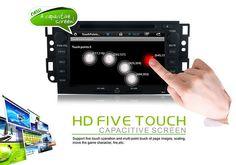 Dual-Core Android 4.2 capacitif HD Ecran voiture Sat Nav Rénovation pour 2006-2011 Holden Captiva avec DVD AUX 3G WiFi Bluetooth Radio Tuner Lien Miroir OBD2