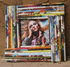 magazine reed frame #recycle #paper crafts
