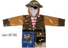 Freche Regenjacke für Piraten von Kidorable