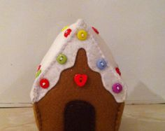 Gingerbread House Christmas Tree Decoration by StitchedbySally1