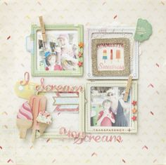 A lovely sample layout from the Pier Collection