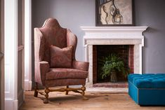 A William and Mary style wing chair upholstered in Etro paisley Upholstered Chairs, Wingback Chair, William And Mary, Wing Chair, Bespoke, Accent Chairs, Paisley, Wings, Furniture