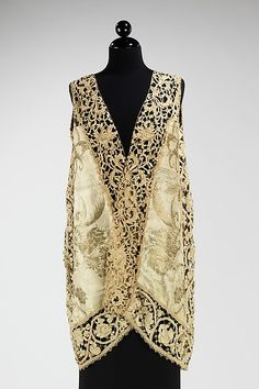 Evening vest Design House: Attributed to Callot Soeurs (French, active 1895–1937) Designer: Attributed to Madame Marie Gerber (French)