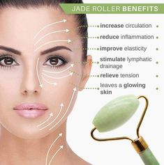 *Jade Roller Natural Anti-Ageing Facial Massager - Body & Mind Yoga *Jade Roller Natural Anti-Ageing Facial Massager - Body & Mind Yoga <br> Try it now, offers ends soon! Improves blood and lymph flow, reduces water retention and improve your skin tone. Beauty Care, Beauty Skin, Beauty Hacks, Face Beauty, Beauty Tutorials, Beauty Stuff, Diy Beauty, Pele Natural, Natural Beauty