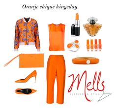 """Oranje chique kingsday"" by melanie-hegeman on Polyvore featuring Maison Rabih Kayrouz, Isa Arfen, Casadei, Just Cavalli, Furla, Olivia Leone, Lancôme, MAC Cosmetics and Adolfo Courrier"