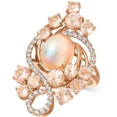 Le Vian Crazy Collection Peach Morganite (3-2/5 ct. t.w.), Opal (2-1/2 ct. t.w.) and White Topaz (7/10 ct. t.w.) Ring in