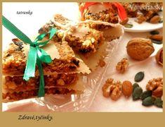 Tyčinky zo sušeného ovocia a orechov (fotorecept) - recept Granola Bars, Paleo, Rice, Food, Essen, Beach Wrap, Meals, Yemek, Laughter