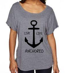 TriBlend Dolman Womens Shirt  Anchor Shirt by EmeraldThreadz, $26.50