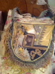 Yellow grey purse