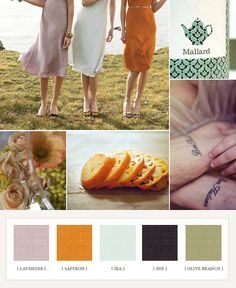Ready for Summer (From a wedding website, but I see these colors in my kitchen and downstairs bathroom.)