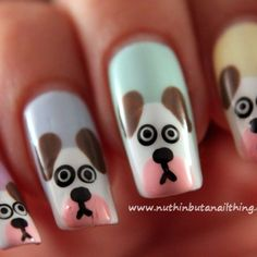 How to create dog nail art via @Guidecentral - Visit www.guidecentr.al for more #DIY #tutorials