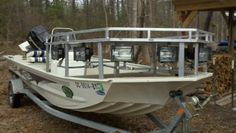 Bowfishing Decks for Boats will be the better place to stay if you try to beautify it. Some ideas are available to be chosen, as your favorite. Bass Fishing, Fishing Boats, John Boats, Bowfishing, Bass Boat, Boat Design, Decks, The Good Place, Building